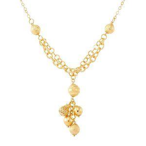 Beaded Tassel Lariat Necklace